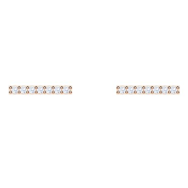 Swarovski Only Rose Gold Bar Earrings  - Click to view larger image