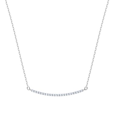 Swarovski Only Silver Line Necklace  - Click to view larger image