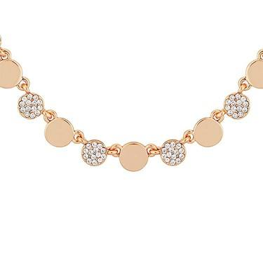 August Woods Rose Gold Crystal Coin Necklace  - Click to view larger image