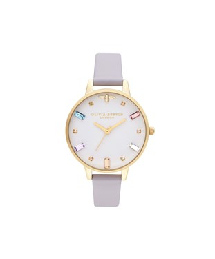 Olivia Burton Rainbow Bee Parma Violet + Gold Watch  - Click to view larger image
