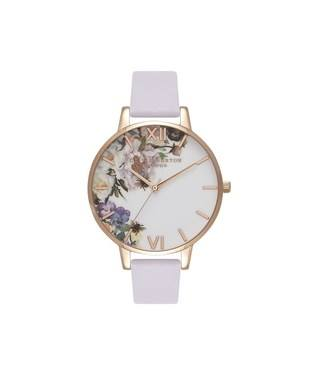 Olivia Burton Floral Parma Violet & Rose Gold Watch  - Click to view larger image