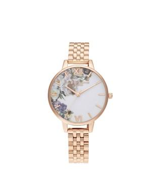 Olivia Burton Rose Gold Bracelet Watch  - Click to view larger image
