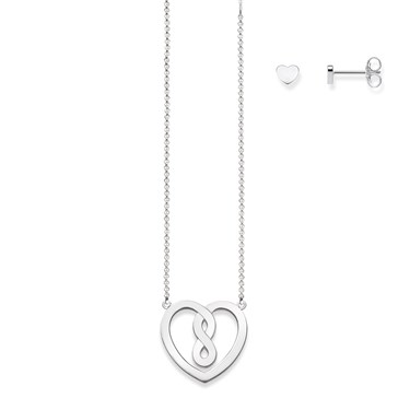 Thomas Sabo Valentine Silver Infinity Heart Set  - Click to view larger image