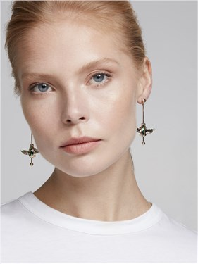 Ted Baker Gold Agoria Amulet Drop Earrings   - Click to view larger image