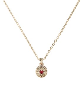 Ted Baker Gold Baltia Biscuit Button Necklace  - Click to view larger image