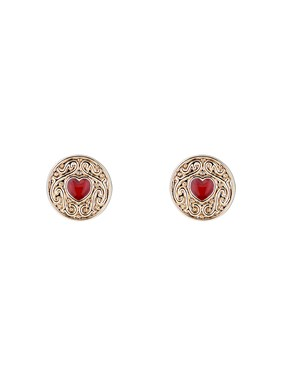 Ted Baker Gold Brenna Biscuit Button Earrings  - Click to view larger image