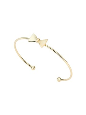 Ted Baker Gold Tarsha Tux Bow Cuff  - Click to view larger image