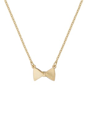 Ted Baker Gold Tengar Tux Bow Necklace  - Click to view larger image