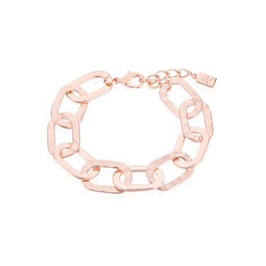 August Woods Rose Gold Chain Link Bracelet  - Click to view larger image