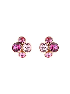 Ted Baker Rose Gold Lynda Pink Jewel Cluster Earring   - Click to view larger image