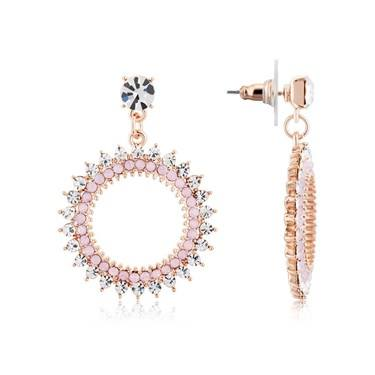 August Woods Rose Gold + Pink Sunblast Earrings  - Click to view larger image