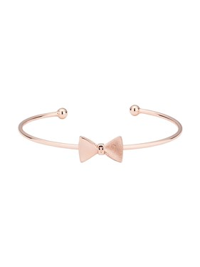 Ted Baker Rose Gold Tarsha Tux Bow Cuff  - Click to view larger image