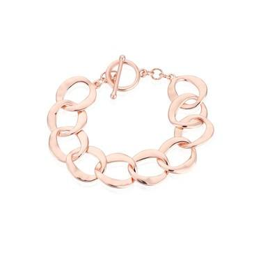 August Woods Rose Gold T-bar Circlet Bracelet  - Click to view larger image