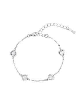 Ted Baker Silver Heniee Crystal Heart Bracelet   - Click to view larger image
