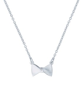 Ted Baker Silver Tengar Tux Bow Necklace  - Click to view larger image
