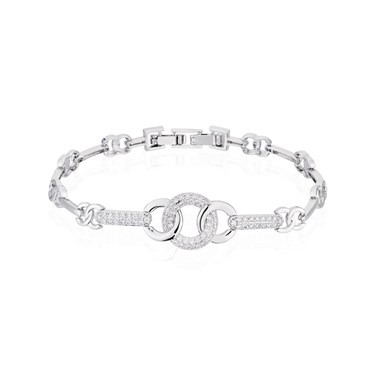 August Woods Silver Twisted Circle Bracelet  - Click to view larger image