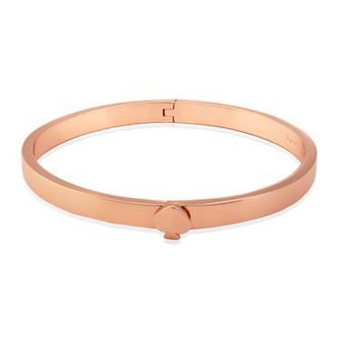 Kate Spade New York Thin Rose Gold Spade Button Bangle  - Click to view larger image