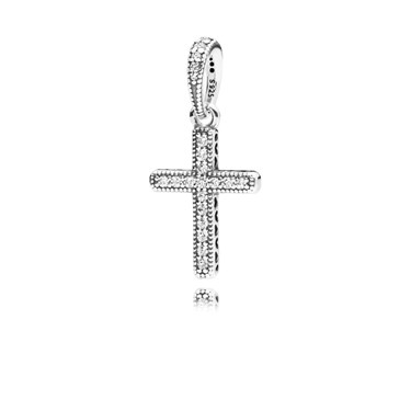 Pandora Cross Pendant Charm  - Click to view larger image
