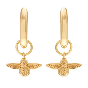 Olivia Burton Gold 3D Bee Huggie Earrings  - Click to view larger image