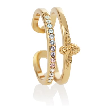 Olivia Burton Gold Rainbow Bee Ring  - Click to view larger image