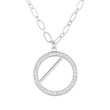 August Woods Silver Bar Circle Necklace  - Click to view larger image