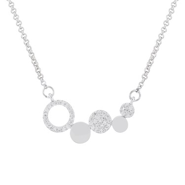 August Woods Silver Multi Hoop Necklace  - Click to view larger image