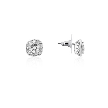 August Woods Silver Sparkle Crystal Earrings  - Click to view larger image