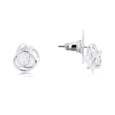 August Woods Silver Sparkle Gem Earrings  - Click to view larger image