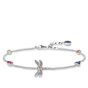 Thomas Sabo Colourful Dragonfly Bracelet  - Click to view larger image