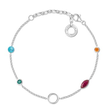 Thomas Sabo Colourful Charm Carrier Bracelet  - Click to view larger image