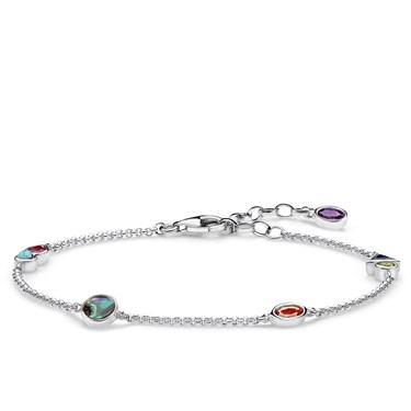 Thomas Sabo Colourful Stones Bracelet  - Click to view larger image