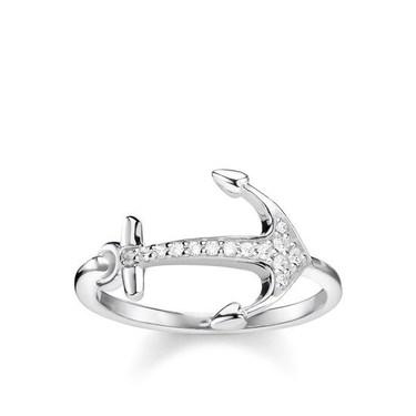 Thomas Sabo Crystal Anchor Ring  - Click to view larger image
