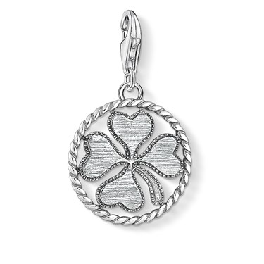Thomas Sabo Clover Disc Charm   - Click to view larger image