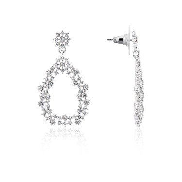 August Woods Silver Chandelier Drop Earrings  - Click to view larger image