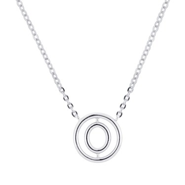 August Woods Silver Ripple Necklace  - Click to view larger image