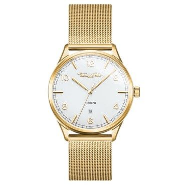 Thomas Sabo Code White Dial Gold Watch  - Click to view larger image