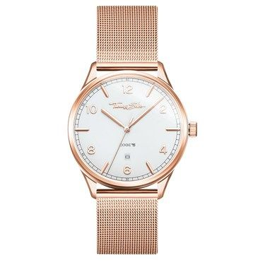 Thomas Sabo Code White Dial Rose Gold Watch  - Click to view larger image