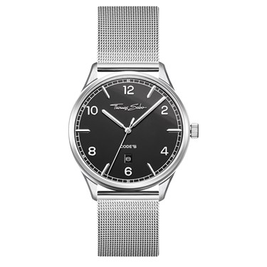 Thomas Sabo Code Black Dial Silver Watch  - Click to view larger image