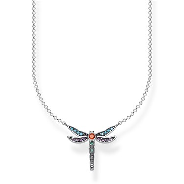 Thomas Sabo Colourful Dragonfly Necklace  - Click to view larger image