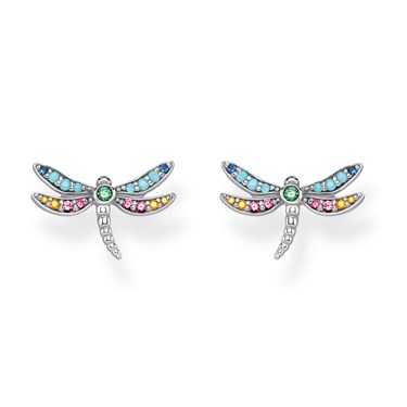 Thomas Sabo Colourful Dragonfly Stud Earrings  - Click to view larger image