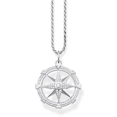 Thomas Sabo Crystal Compass Necklace  - Click to view larger image