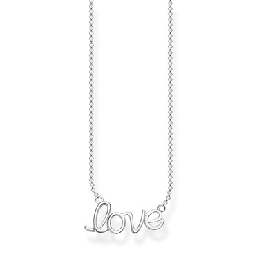 Thomas Sabo Love Script Necklace  - Click to view larger image