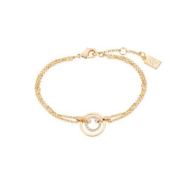 August Woods Gold Ripple Effect Bracelet  - Click to view larger image