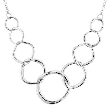 August Woods Silver Circlet Necklace  - Click to view larger image