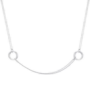 August Woods Silver Mini Loops Necklace  - Click to view larger image