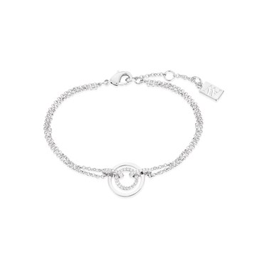 August Woods Silver Ripple Effect Bracelet  - Click to view larger image