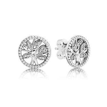 Pandora  Tree of Life Stud Earrings  - Click to view larger image