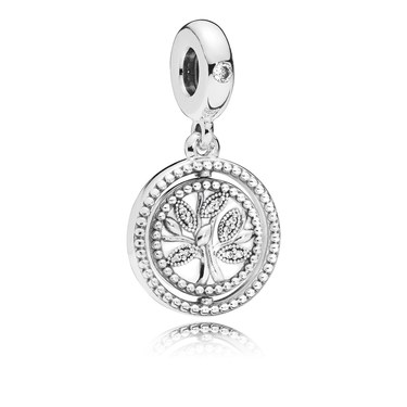 Pandora Spinning Tree of Life Pendant Charm  - Click to view larger image