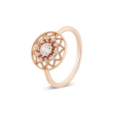 Argento Rose Gold Ring  - Click to view larger image