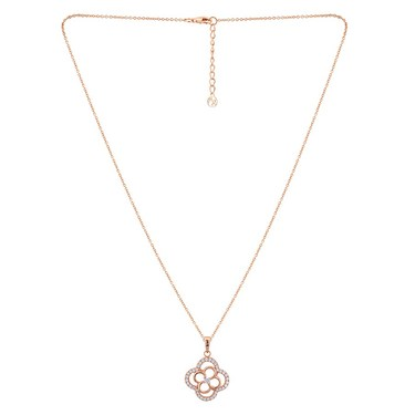 Argento Rose Gold Open Clover Necklace  - Click to view larger image